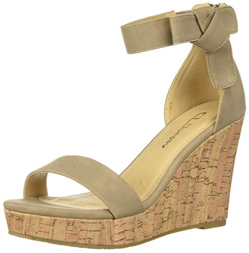 CL by Chinese Laundry Women's Blisse Wedge Sandal, Taupe Nubuck, 8 M US