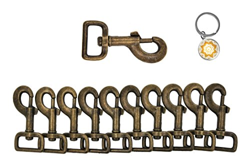 Swivel Eye Bolt Snap - Mandala Crafts Swivel Bolt Snap Hooks, Lobster Clasps, Trigger Leash Clips for Dogs, Backpacks, Bags, Straps, Harnesses (3.25 Inches, Heavy Duty, Antique Brass)