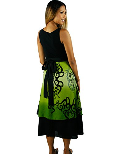 Wrap Iris Green To Sizes 22 Impressions 0 Instructional Convertible blend Long Poly Skirt Included Dvd Fits IFIvqBrZx