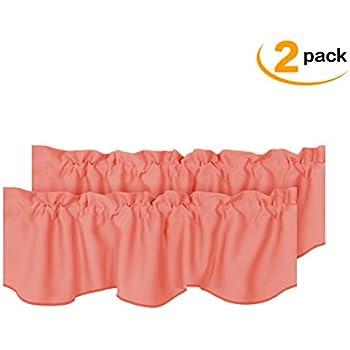 Amazon Com Coral Ruffle Valance Sheer Extra Wide Window