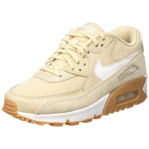 new style 072df 3ccfe Nike Womens Wmns Air Max 90, Oatmeal White - Gum Light Brown well- ...