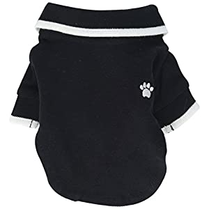 Anima Polo Style Pet Shirt, XX-Small Black