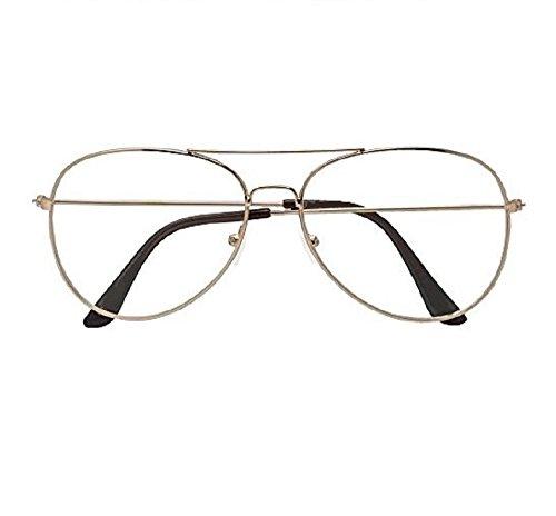 2017 New M L E  N Y C  Round Eye Non Prescription Premium Women Fashion Clear Aviator Unisex Sunglasses Glasses Rose Gold Metal Lens Frames