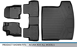 SMARTLINER Custom Fit Floor Mats 2 Rows and Cargo Liner Trunk Set Black for 2019 Acura RDX All Models