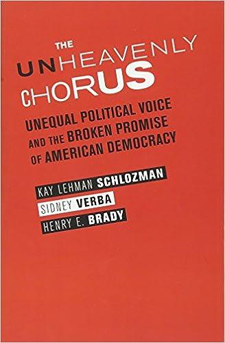 d45fe58d4 The Unheavenly Chorus: Unequal Political Voice and the Broken Promise of  American Democracy: Kay Schlozman, Sidney Verba, Henry Brady:  9780691159867: ...