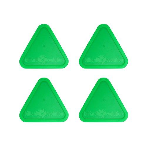 Green Triangle (4 Green Triangle Air Hockey Pucks)