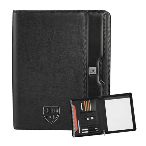 St. Lawrence Cutter & Buck Performance Series Black Zippered Padfolio 'Official Shield Debossed' by CollegeFanGear