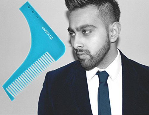 everteco beard shaping styling template beard comb tool for perfect lines and. Black Bedroom Furniture Sets. Home Design Ideas
