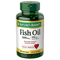Nature's Bounty Fish Oil 1400 mg Omega-3 Softgels 39 ea
