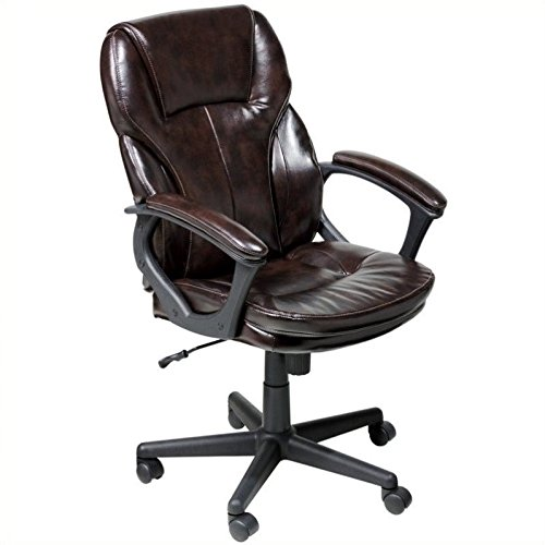 43669 faux leather executive chair