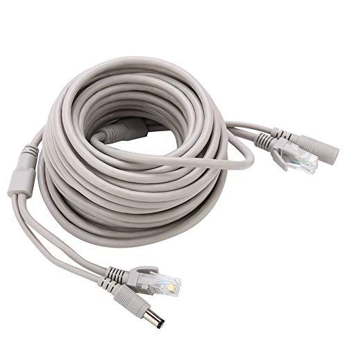 RJ45 + DC-kabel, compatibel met 2,1 mm / 5,5 mm-aansluiting, geschikt voor 10 Mbps / 100 Mbps netwerk, Ethernet-kabel…