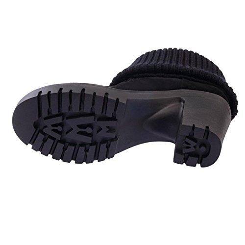 Negro de Botas Mujer Para Plataforma ESAILQ Invierno Snowboard C Por Zapatos vd4wqTdrx