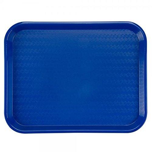 18' Rectangular Tray (Cafe Tray, Rectangular, 18'' X 14'', Polypropylene, Blue, Nsf)
