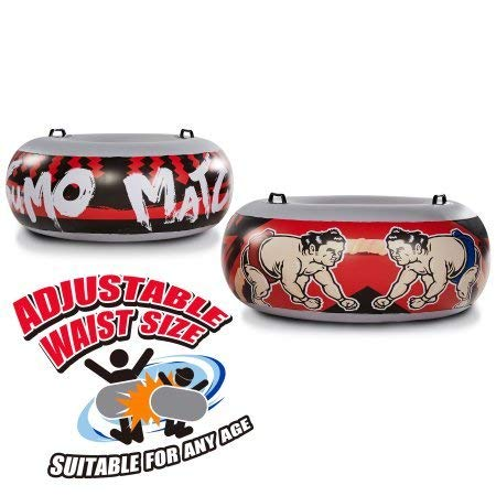 Jumbo Inflatable Sumo Wrestling Match Intertube Bouncing Boppers, Red and Black (Set of Two Sumo Innertubes) by MD Sports