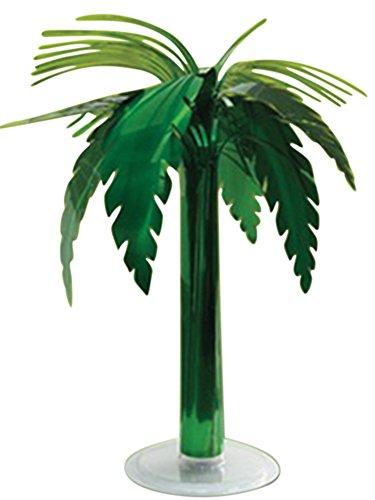 Metallic Palm Tree Table Decor (Hawaiian Green Metallic Palm Tree Table Centerpiece Decor, 18 inches)