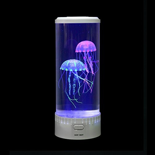 Jellyfish Lava Lamp Classy Large Round Jellyfish Lamp Tank With Glowing Jelly Fish In White