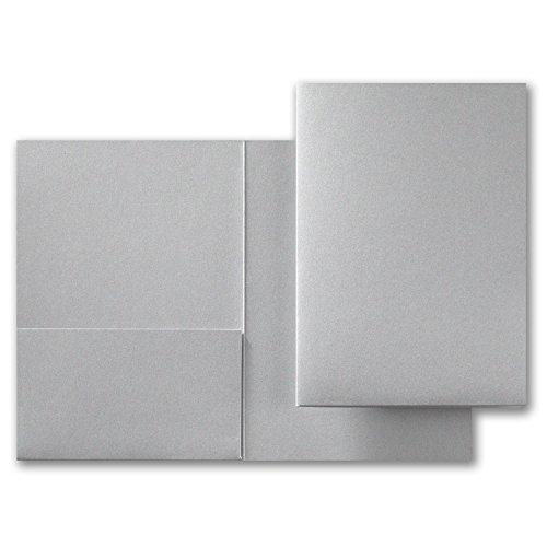 Fine Impressions 250-Count Silver Shimmer Pocket Folder 5 1/4