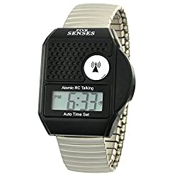 ATOMIC Talking watch - FIVE SENSES Top Button LCD Atomic Talking Watch (1095)