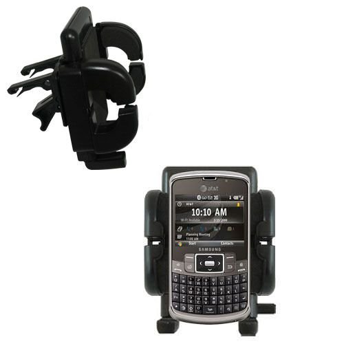 - Gomadic Air Vent Clip Based Cradle Holder Car / Auto Mount suitable for the Samsung Jack SGH-i637