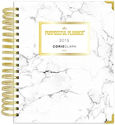 2019 Purposeful Planner - Weekly - Marble