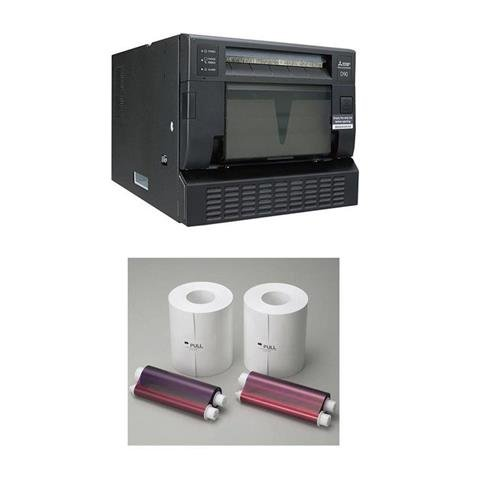 Mitsubishi CP-D90DW Hi-Tech Dye-Sub Photo Printer - With Electric Two 6in Wide Paper Roll/Inksheet by Mitsubishi
