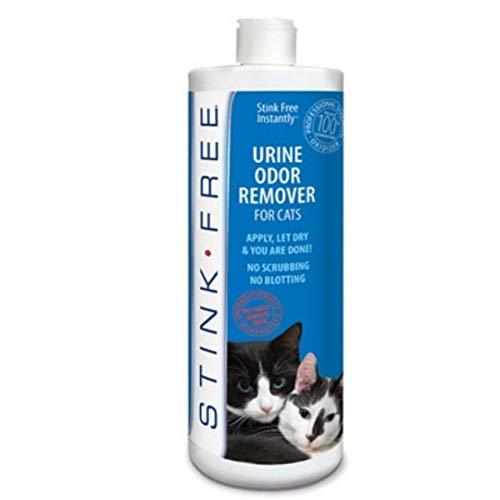 Stink Free Instantly Urine Odor Remover & Eliminator for Cat Urine - Neutralizer of Cat Pee, Oxidized Based Urine Cleaner Solution for Carpets, Rugs, Mattress, etc. 32 oz bottle (1 Quart)