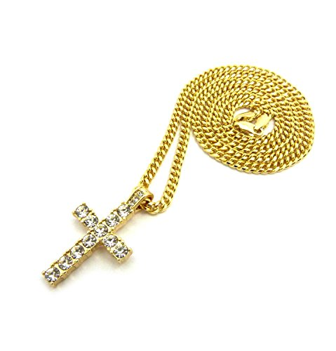 Fashion 21 Iced Out Micro Cross Pendant 24