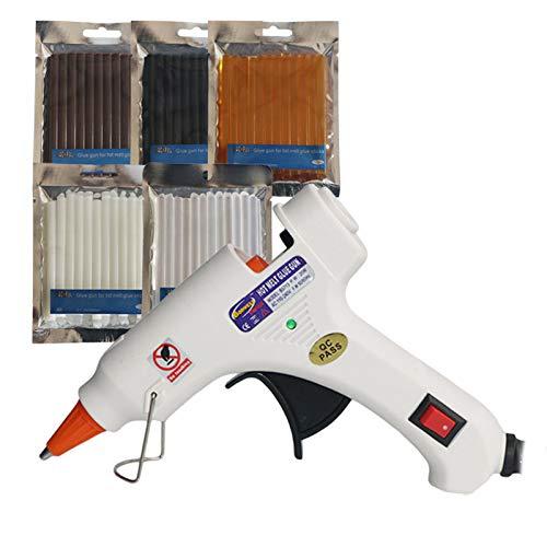 Stock-Home, 20W EU Us Au UK Plug Hot Melt Glue Gun Adhension DIY Tools for 7mm Glue Sticks Industrial Mini Guns - (Color: 1Pcs Gun.3 Packets; Plug Type: Au)
