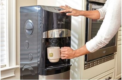 Primo Electronic Control Black & Stainless Steel Bottom Load Water Cooler Dispenser