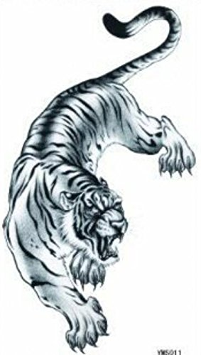 Wonbeauty best and temporary tattoos Fiercely tiger long lasting and realistic temporary tattoos