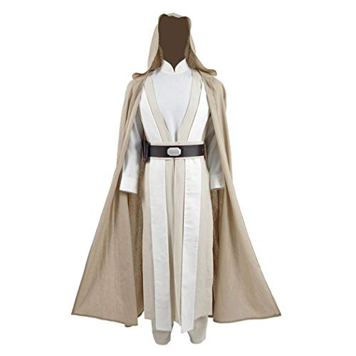 Luke Cosplay Costume The Last Jedi Costume Carnival Halloween Robe Outfit (X-Large, Beige)]()