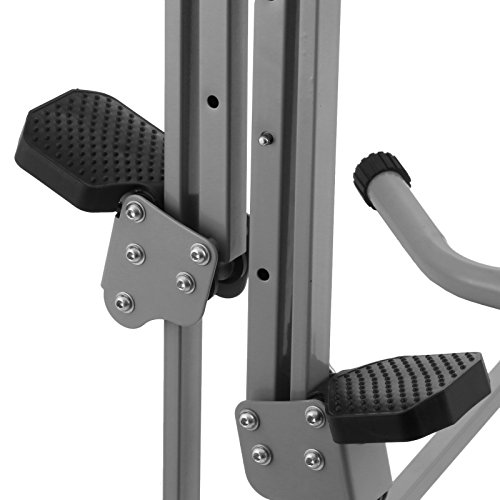 Happybuy Vertical Climber Exercise Machine 440LBS LCD Folding Climber Machine Fitness Stepper Climbing Machine Vertical Climber for Home Gym Exercise Cardio Workout Climbing Stair (P8008 Platic) by Happybuy (Image #6)