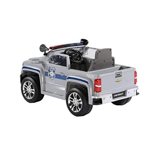 Rollplay 6 Volt Chevy Silverado Police Truck Ride On Toy ...