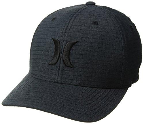 Hurley Men's Black Textures Baseball Cap, Ripstop, S-M ()
