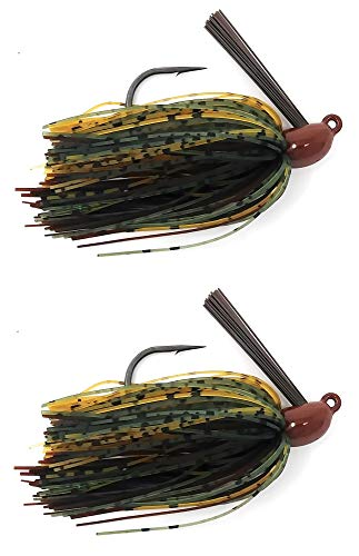 Reaction Tackle Swim Jigs 1/2 oz Camo Craw