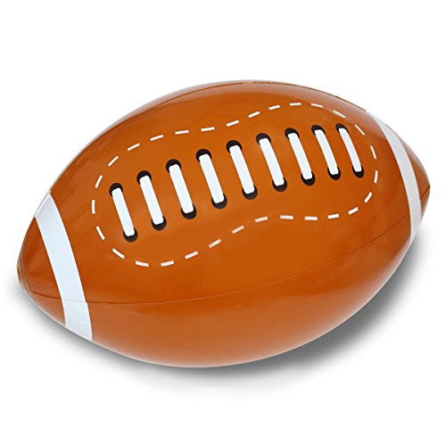 Novelty Place Giant Inflatable Football Set for Kids & Adults, 16 Inches (Pack of 12)
