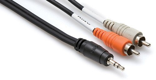 Hosa CMR-215 3.5 mm TRS to Dual RCA Stereo Breakout Cable, 15 feet