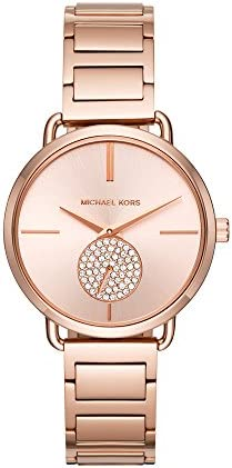 Michael Kors Portia ladies watch – wrist watch with three hands, quartz and second hand
