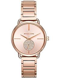 Womens Portia Rose Gold-Tone Watch MK3640