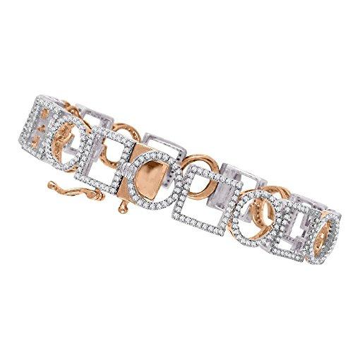 KATARINA Diamond Bangle Bracelet in 14K Two Tone Gold (2 1/4 cttw, J-K, SI2-I1) -