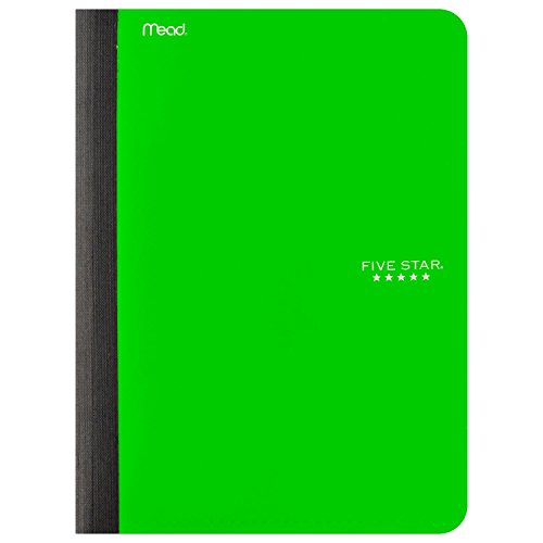 Five Star Composition Book, Notebook with Pockets, 100 Sheets, 9-3/4