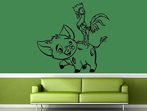 Pua HeiHei Vinyl Sticker Moana Wall Vinyl Decal Home Decor Applique Kid Room Boys Girls Bedroom Graphic moana7