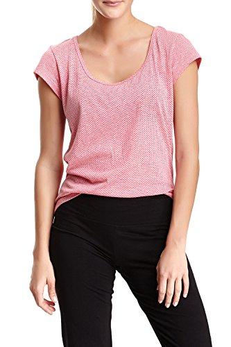 [Balanced Tech Women's Burnout Scoop Neck Short-Sleeve Tee M Melon] (Model Womens Cap Sleeve T-shirt)