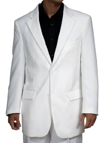 New Men's 2 Button White Dress Suit - Includes Jacket and Pants