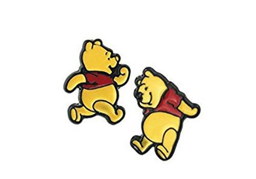 Disney's Winnie the Pooh Metal Enamel Stud Earrings]()