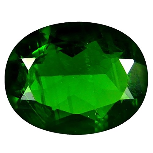 1.54 ct AAA+ Grade Oval Shape (9 x 7 mm) Green Russian Chrome Diopside Genuine Loose Gemstone