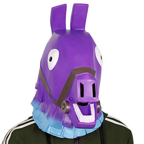 Original Manufacturer Handmade Game Costume Animal Unicorn Rainbow Alpaca Horse Latex Mask Halloween Cosplay Party -