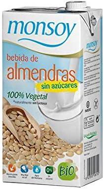 Monsoy 20447 - Bebida Ecológica de Almendras sin Azúcar, 1L: Amazon.es: Alimentación y bebidas