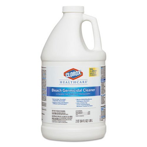 Clorox Healthcare Hospital Cleaner Disinfectant w/Bleach, 2qt Refill, 6/Carton