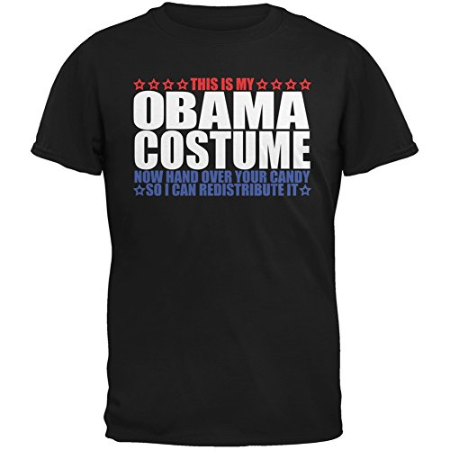 Old Glory Halloween Funny Obama Costume Black Youth T-Shirt - Youth -